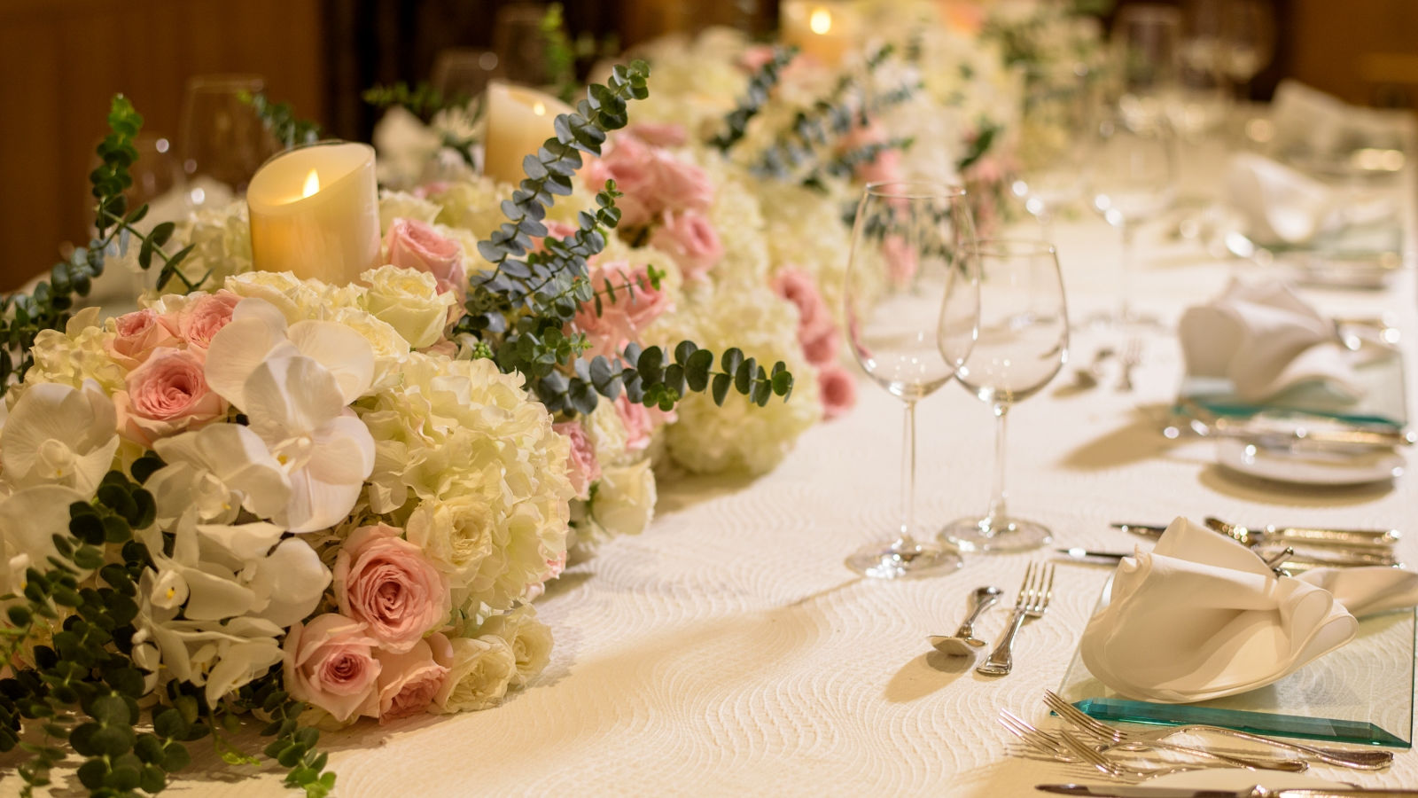 Enchanting wedding feast